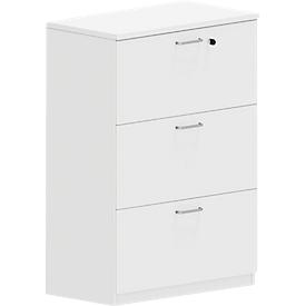 Armario para archivadores colgantes NEVADA, An 800 x Al 1160mm, blanco