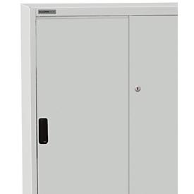 Armario, puertas correderas, Al 1150 x An 1200 x P 400mm, gris luminoso