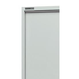 Armario, puertas correderas, An 1200 x P 400 x Al 1950mm, gris luminoso