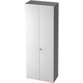 Armario TOPAS LINE, armario archivador/taquilla, 6 alturas de archivo, An 800mm, grafito/blanco