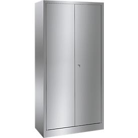 Armario universal de acero inoxidable con 4 estantes, 1800 x 800 x 500mm