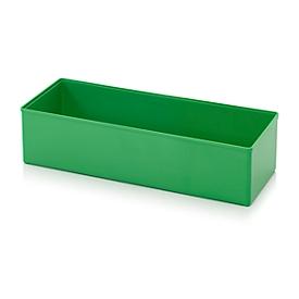 Assortimentsdoos inzetbak, voor rasterafmeting 2 x 5, rechthoekig, groen