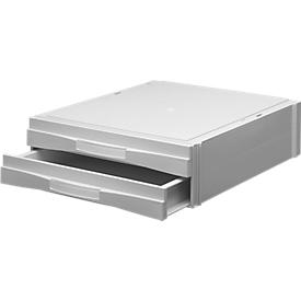 ATLANTA sorteerbak PAS-Plus 82, 2 schuifladen, C4, polystyreen, wit