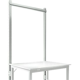 Aufbauportal, Grundtisch STANDARD Arbeitstisch-/Werkbanksystem UNIVERSAL/PROFI, 1250 mm, lichtgrau