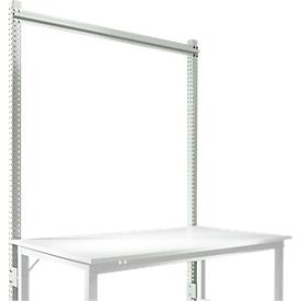 Aufbauportal, Grundtisch STANDARD Arbeitstisch-/Werkbanksystem UNIVERSAL/PROFI, 1500 mm, lichtgrau