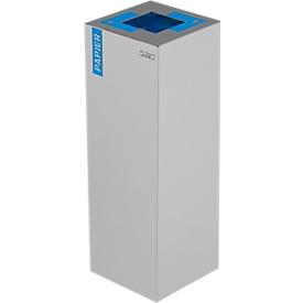Aufkleber zur Trennung für den Abfallbehälter Alicante, Papier, blau
