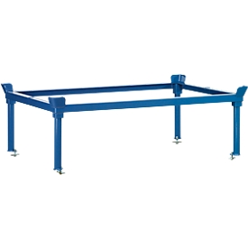 Aufsetzrahmen, für Paletten-Fahrgestell, Stahl, bis 1200 kg, blau, H 370/652 mm