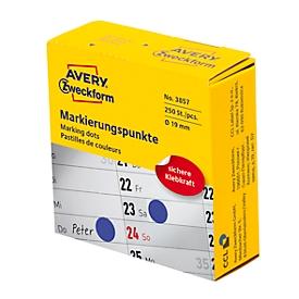 Avery Zweckform markeringspunten dispenserbox, permanent hechtend, diameter 19 mm, blauw