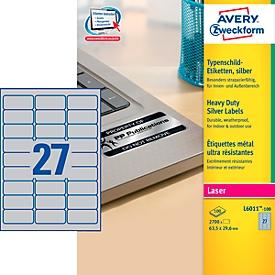 AVERY® Zweckform typeplaatje-etiketten L6011-100, 63,5 x 29,6 mm, 2700 etiketten