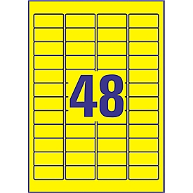 Avery Zweckform weerbestendige folie-etiketten L6103-20, 45,7 x 21,2 mm, permanent, geel