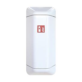 Ayuda de armario de extintor, plástico, W 434 x D 225 x H 1028 mm, blanco