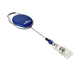 Badgehouder Jojo Style, met drukknop-lus,  zonder kaartjeshouder, 10 stuks, blauw