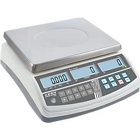 Balanza cuentapiezas CPB, 3 pantallas, función PRE-TARE, memoria de suma de conteo, rango pesaje máx. 30 kg
