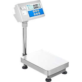 Balanza de control de suelo, rango de pesaje máx. 8 kg, función de etiquetado, nivel de burbuja, pantalla LCD