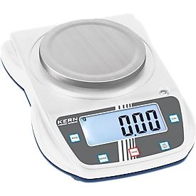 Balanza de laboratorio EHA, para el rango de pesaje 3000 g, peso mínimo 6000 g, nivel de burbuja, incl. pantalla