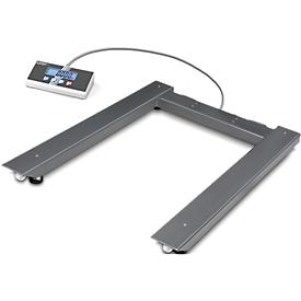 Balanza de palets de suelo Kern UIB, con dispositivo indicador, rango de pesaje máx. 1500 kg