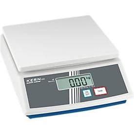 Balanza de sobremesa básica FCE-N, manejo con 2 teclas, cubierta protectora, rango pesaje máx. 30 kg