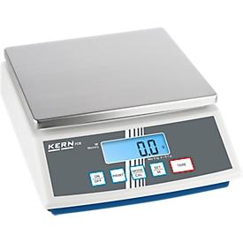 Balanza de sobremesa FCB, indicador adicional en la parte posterior, función PRE-TARE, RS-232, rango pesaje máx. 12 kg