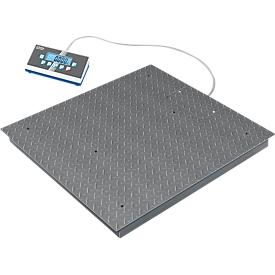 Balanza de suelo BIC, rango de pesaje 600/1500 kg, alta resolución, plato de pesaje 1000 x 1000 mm