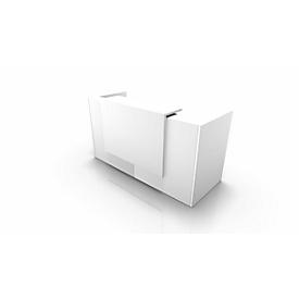 Balie Spezia, recht, B 2060 x D 880 x H 1130 mm, wit/wit