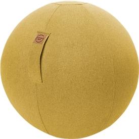 Balón asiento FELT, imitación de fieltro 100% poliéster, lavable, resistente a la rotura, lazo de sujeción, mostaza