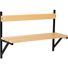 Banco de pared, madera, 1015 mm de ancho, antracita (RAL 7016)