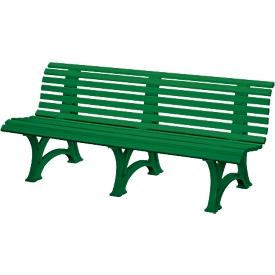 Banco de parque, 4 plazas, L 2000mm, verde