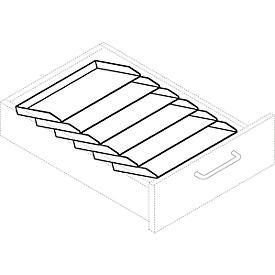 Bandeja de almacenamiento inclinada, para archivador con ruedas 1233