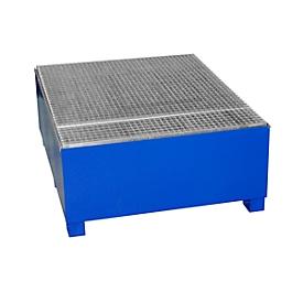 Cubeta colectora IBC CEMO GS1, acero, volumen de recogida 1000 l, lacado, L 1350 x An 1250 x Al 760mm
