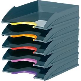 Bandeja para documentos DURABLE VARICOLOR, DIN C4, plástico, 5 unidades