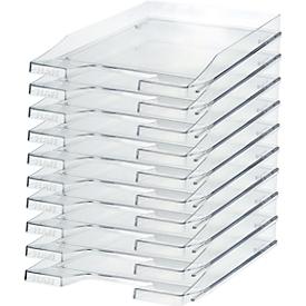 Bandeja para documentos HAN, DIN C4, plástico, 10 unidades, transparente