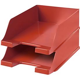 Bandeja para documentos HAN XXL, plástico, 2 unidades, rojo