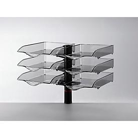 Bandeja para documentos Novus CopySwinger Duo, 2 x 3 cajones, formato B4, sistema de columnas, antracita