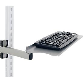 Bandeja para teclado y ratón con brazo articulado Hüdig+Rocholz System Flex, ajustable en altura