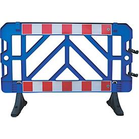 Barrera de salida de seguridad, plástico, 1000 x 1500 mm, azul, juego de 2