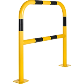 Barrera de seguridad, para fijar con tacos, L 1000mm, amarillo/negro