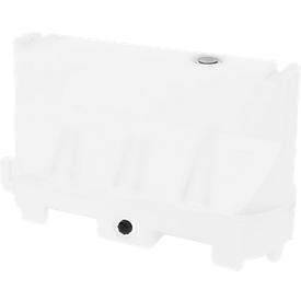 Barreras de separación, polietileno resistente a los rayos UV, resistente a temperaturas extremas, disposición flexible, blanco