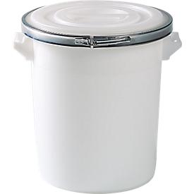 Barril, de plástico, incluida la tapa con junta y arandela metálica, 75 litros
