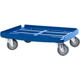 Basic Transportroller Serie WTR2, für 600 x 400 mm Boxen, Polypropylen