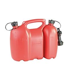 Bdion doble, 6 + 3 litros, rojo