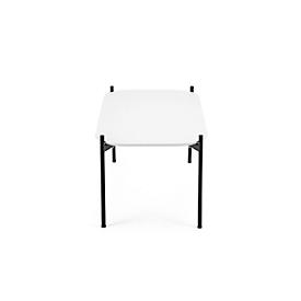Beistelltisch Paperflow Meet, Quadrat, furniertes MDF, Stahlgestell, B 500 x T 500 x H 400 mm, weiß/schwarz