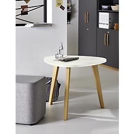 Beistelltisch START UP Holz, Ø 850 x H 630 mm, Holz, weiß