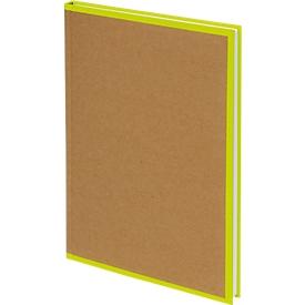Biella Notizbuch Skandal, 14,8 x 21 cm (A5), kariert mit Kopfzeile, gelb