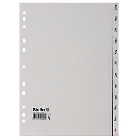 Biella Register PP grau A4, Dez.- Jan. deutsch
