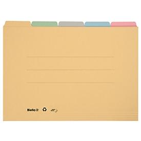 Biella Registermappe A4 Set à 5 Mappen farbig