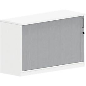 Bijzet roldeurkast BEXXSTAR, 1,5 ordnerhoogte, B 1200 x D 420 x H 720 mm, wit