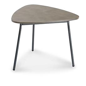 Bijzettafel Andros, robuust tafelblad, B 600 x D 570 x H 450 mm, antraciet/betongrijs