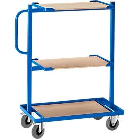 Bijzetwagen, met open bodems, zonder houten legborden, vast