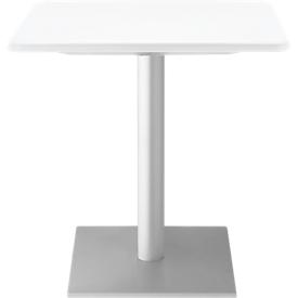 Bistrotafel OLO, B 800 x D 800 mm, bestand tegen ontsmettingsmiddelen, wit