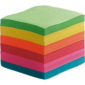 Bloc de notas, ancho 90 x fondo 90 x alto 90 mm, colores surtidos, 700 hojas sueltas